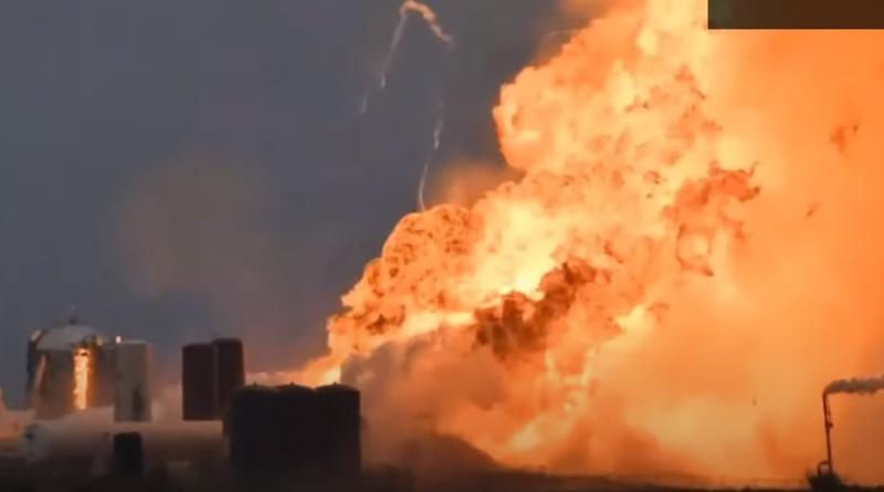Wybuch rakiety Starship Elona Muska