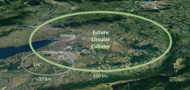 Future Cilcular Collider (FCC) przyćmi wielkością Wielki Zderzacz Hadronów (LHC)