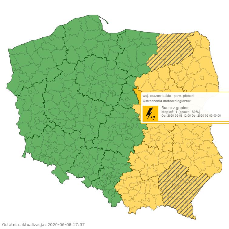 Alerty pogodowe od IMGW i pogoda w Polsce