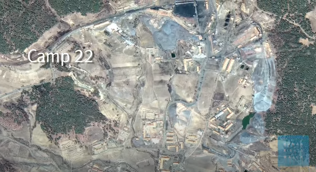Obozy pracy w Korei Północnej  - zdjęcia satelitarne ukazujące Camp 22 (Haengyong)
