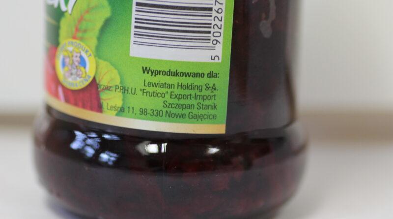 Buraczki Lewiatan i ostrzeżenie GIS - znieczyszczona żywność