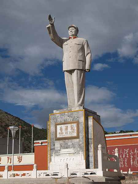 Pomnik Mao Zedonga w Lijiang
